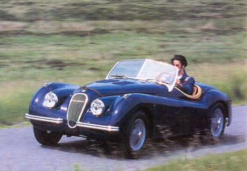 JT5 In A 1954 XK120 Tested By Classic Cars Magazine