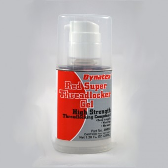 Dynatex Red High Strength Threadlocker Gel - 35ml Pump